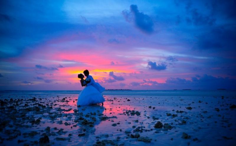 马尔代夫婚纱摄影费哈后岛、天堂岛、班度士岛三选一