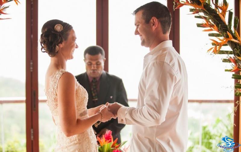 斐济让米歇尔库斯托度假村蜜月浪漫婚礼