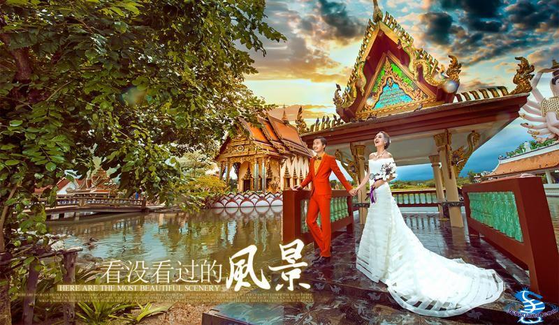 苏梅岛大道帕雅寺婚纱摄影