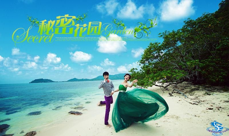 苏梅岛神秘花园岛婚纱摄影